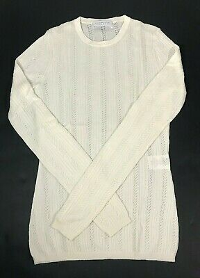 Gabriela Hearst Women's Small Ivory White Sweater Cashmere Silk Ribbed Top