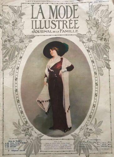 MODE ILLUSTREE SEWING PATTERN Jan 12,1913 - Walking costume, ladies dresses
