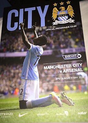 Manchester City V Arsenal Barclays Premier League 2015/16 Programme