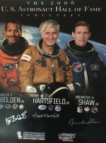 U.S. Astronaut Hall of Fame Class of 2006 Autographed Commemorative Poster