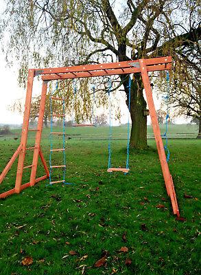 NEW Wooden Monkey Bars - Climbing Frame, Wooden Swings