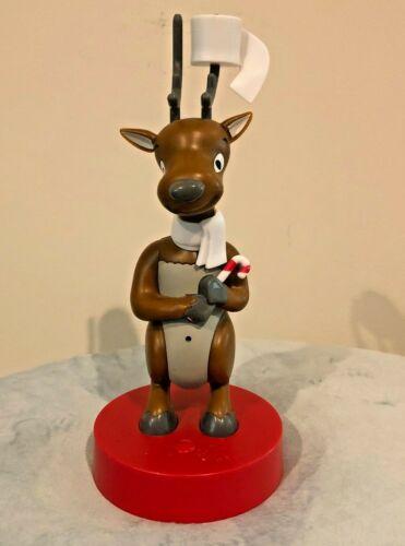 Reindeer Toilet Music Box Red Brown Bathroom Holiday Christmas 10 x 3 handmade
