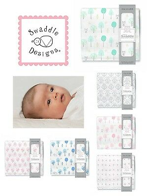 "SwaddleDesigns 100% Cotton Muslin Swaddle Blanket 46""x46"" Cu"