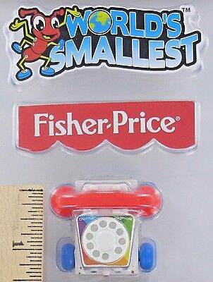 World's Smallest Fisher-Price CHATTER TELEPHONE Toy Miniature Doll Mini Phone