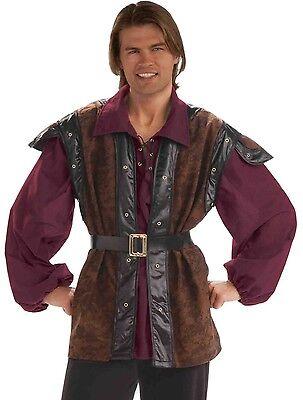 Medieval Mercenary Costume Mens Adult Renaissance Brigand Highway Robber Crook - Medieval Vests