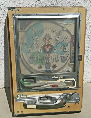 VINTAGE Japanese Nishijin 1970s Pachinko Pinball Game W/ Metal Balls Not Tested