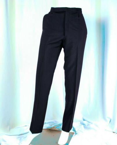 UNBRANDED [Vintage]  Navy Blue with Black Satin Strip Man Tuxedo Pants