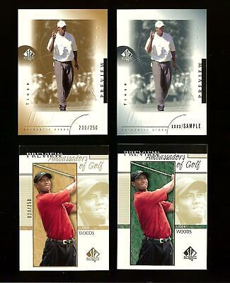TIGER WOODS 2001 Upper Deck SP AUTHENTIC PREVIEW Golf  /250 GOLD LOT! #2027