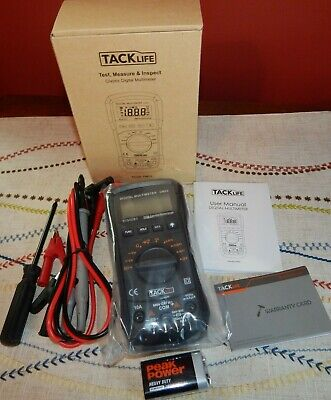 Multimeter Tacklife Dm03 Auto Ranging Multi Tester Measures Ac Dc Voltage New