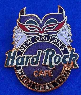 a Mardi Gras 1997 Karneval Maske Federn Hard Rock Café (New Orleans Mardi Gras Masken)