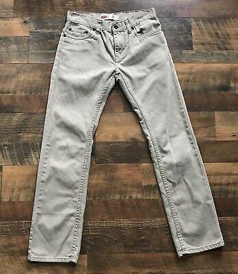 Levis Jungen 511 Slim Jeans Khaki Hose Größe 14 27x27 Beige Red Tab - Jungen Red Tab