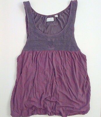 Kimchi Blue Urban Outfitters Embroidered Cami Tank Top Size Medium Maroon Boho