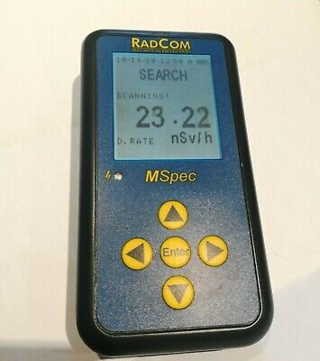 Calibrated Radcom Mspec Spectroscopic Personal Radiation Detector - Fast Ship