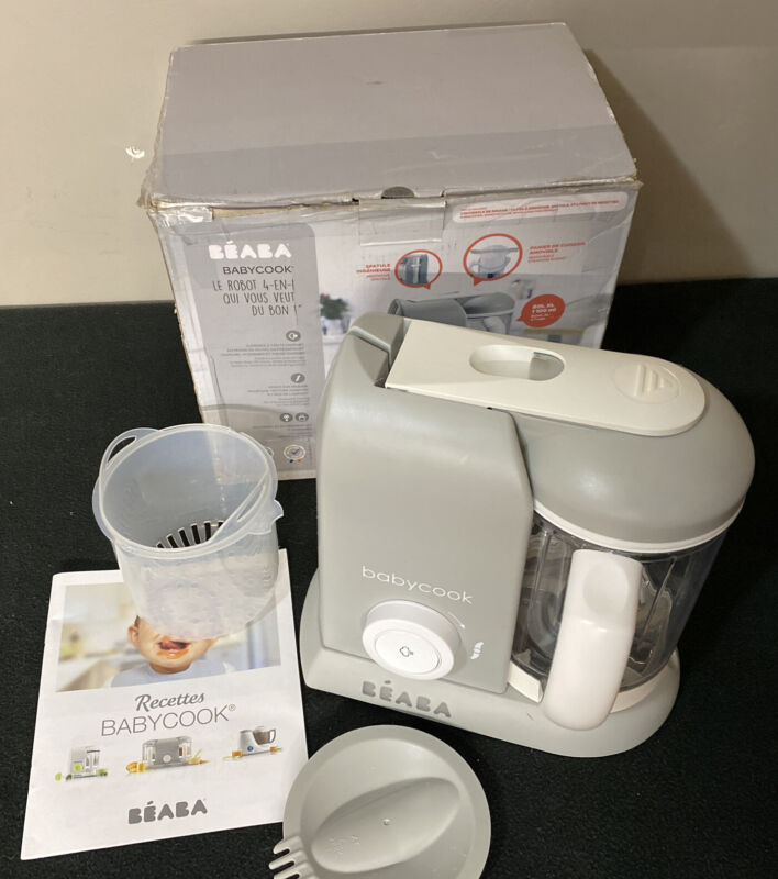 BEABA Babycook 4 in 1 Steam Cooker & Blender, 4.5 Cups, CLOUD, Dishwasher