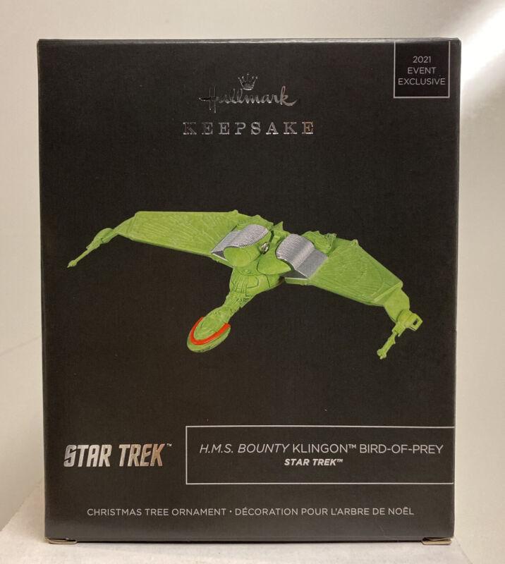 2021 Hallmark Keepsake SDCC Star Trek HMS Bounty Klingon Bird Of Prey Ornament