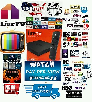 Amazon Fire TV 4k JAILBROKEN-HD MOVIES-TV SHOWS-SPORTS-XXX-LIVE TV-PPV-Best BOX!