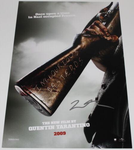 DIRECTOR QUENTIN TARANTINO SIGNED INGLOURIOUS BASTERDS 12x18 MOVIE POSTER w/COA