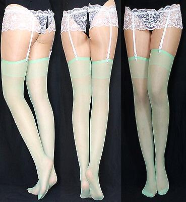 rapsstrümpfe Strümpfe Strapse grün Kostüm Kleid Rock EU (Klassische Paare Kostüme)