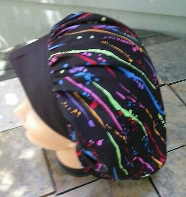 SPATTERED PAINT Surgical Scrub Hat Cap Bouffant Women Ladies Medical Vet OR Bouffant Surgical Hats