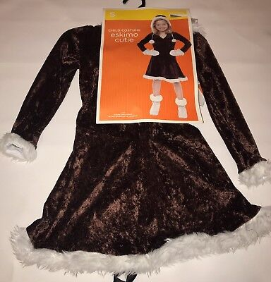 Eskimo Cutie Girls Halloween Costume Dress Size Small 4 6 ](Eskimo Halloween Costume Girl)