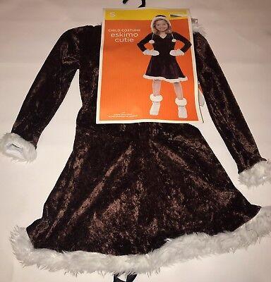 Eskimo Cutie Girls Halloween Costume Dress Size Small 4 6  (Eskimo Cutie Costume)