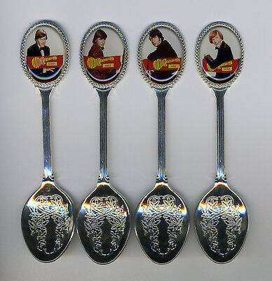 The Monkees 4 Silver Plated Spoons Featuring The Monkees