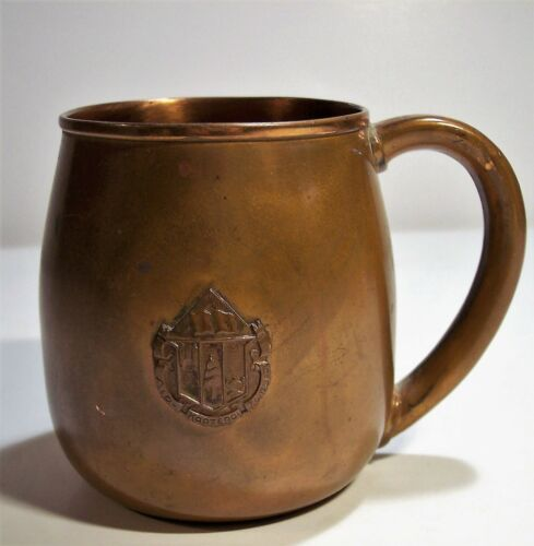 vintage Balfour Mass USA sold copper handled mug collegiate crest Ralph