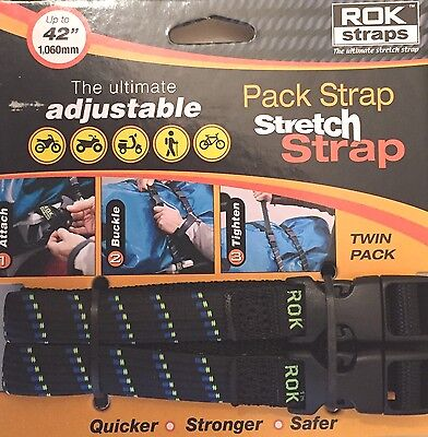 ROK Straps Motorcycle Luggage Tie Down Adjustable Straps 12