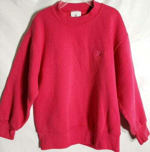 Vintage JC Penney 90s Pink USA Olympic Embroider Child 7/8 Crew Neck Sweatshirt
