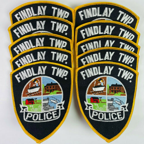 10 Findlay Township Police Allegheny County Pennsylvania PA Patch Lot B