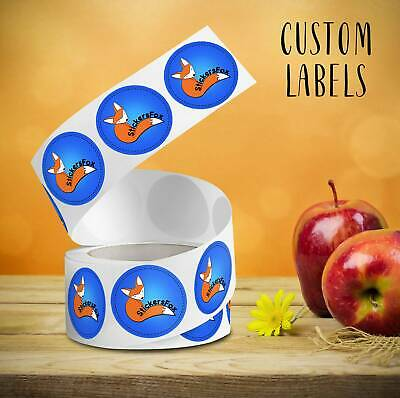 Custom Roll Circle Rectangle Oval Labels. Your Design Is Printed On Stickers