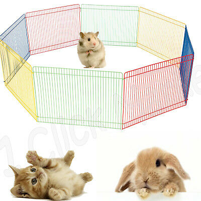 SMALL PET PLAYPEN Indoor Animal Cage Puppy Play Pen Yard Crate Outdoor Dog House