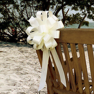 Wedding Pew Bows (6 Ivory 8