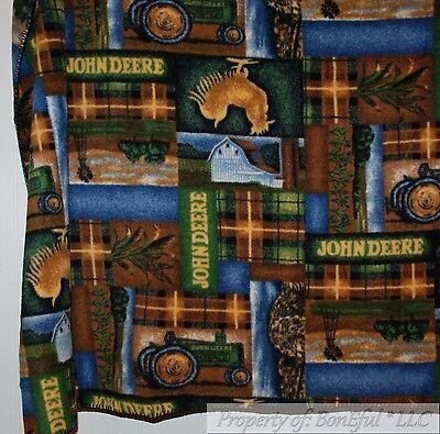 BonEful FABRIC Fleece Blanket US Quilt 50X60 Plaid Throw Farm John Deere Tractor Baby Bedding Plaid Fabric