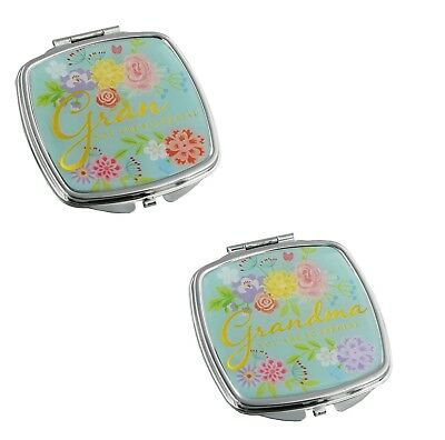 Compact Mirrors For Grandma & Gran Christmas Gift Ideas for Her & Grandparents ()