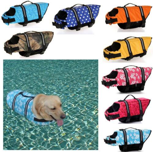 Life Jacket for Dog Saver Vest Preserver Adjustable Puppy Dogs Swim Water Safety