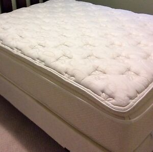 Queen size mattress, boxspring and bed frame