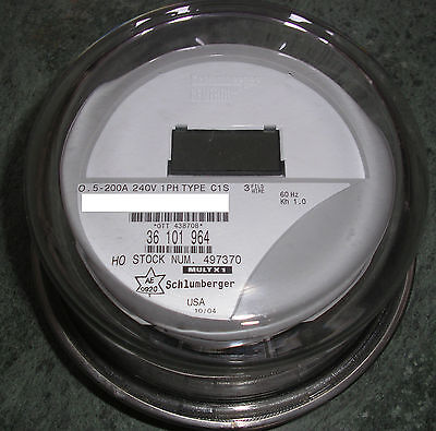 Itron - Watthour Meter Kwh C1s - Centron - 240 Volts Fm2s 200 Amps 4 Lugs