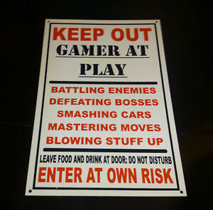 Funny-Keep-Out-Gamer-At-Play-Bedroom-Door-Plaque-Xbox-Playstation-Wall ...
