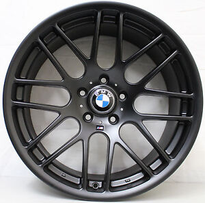 19 inch Aftermarket BMW  CSL Style Wide pack alloy Wheels in Matt Black 3 series