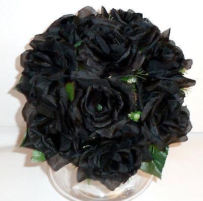 Rosenstrauß Seidenblumen - Blumenstrauß schwarz ()