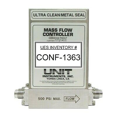 Unit Instruments Ufc-8160 Mass Flow Controller Mfc 20 Slm H2 Working Spare