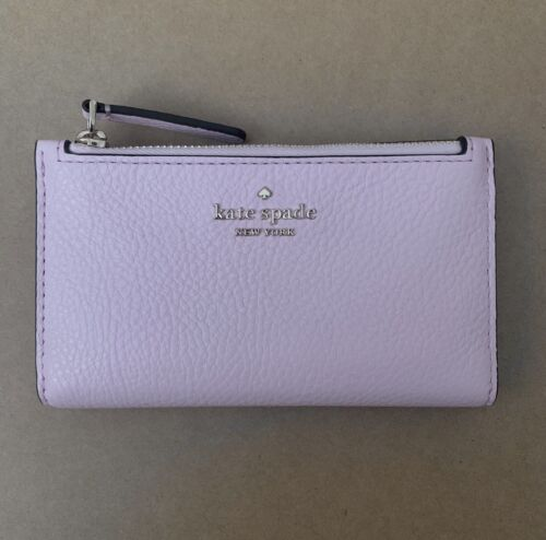 KATE SPADE Jackson STREET MIKEY Small Slim Bifold Pink Leather WALLET New