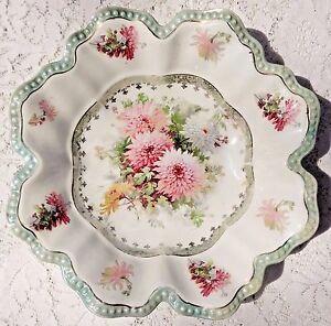 VINTAGE-1950-039-s-EMPIRE-CHINA-HAND-PAINTED-CERAMIC-BOWL-924-MADE-IN-JAPAN