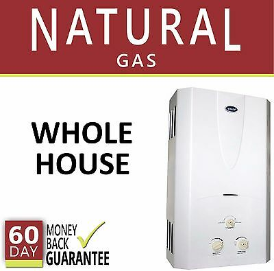 Tankless Hot Water Heater 3.1 GPM Marey Natural Gas On Demand 3 Bath Whole House