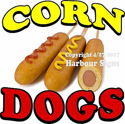 Corn Dogs Decal Choose Your Size Food Truck Concession Vinyl Sign Sticker