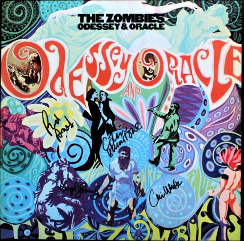 The Zombies SIGNED Vinyl Record, Odessey and the Oracle, Rod, Chris, Colin, Hugh