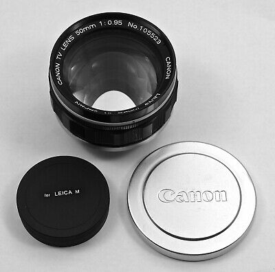 """Canon 50mm/f0.95 """"Dream"""" Lens converted to Leica M Mount (14 available)"""