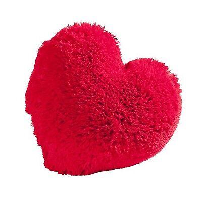 Herzkissen rot XL Zottelkissen Herz Dekokissen Flausch Kissen Kuschelkissen Deko