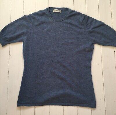 Womans Cashmere Jumper | Size L 12 14 16 | Johnstons Of Elgin | Blue |